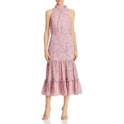 Likely Womens Mona Midi Dress Floral Ruffles - Pink Multi found on MODAPINS from Overstock for USD $38.79