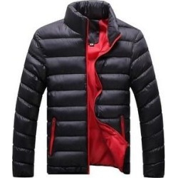 Man Down Coat Slim Warm Cotton Coat Black Only M (XL), Men's found on MODAPINS from Overstock for USD $48.11
