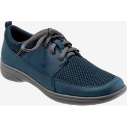 Women's Jesse Flat by Trotters in Navy Combo (Size 9 1/2 M) found on Bargain Bro Philippines from Woman Within for $89.99