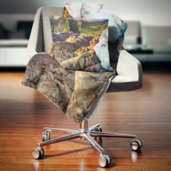 Designart 'Hike in Norway Mountains' Landscape Fleece Throw Blanket found on Bargain Bro from Overstock for USD $50.71