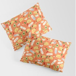 King Size Pillow Sham | Tacos And Burritos by Sara Showalter - STANDARD SET OF 2 - Cotton - Society6 found on Bargain Bro Philippines from Society6 for $39.99