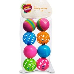 Leaps & Bounds Variety Pack of Balls Cat Toys, Pack of 8 Balls, Mini, Assorted found on Bargain Bro Philippines from petco.com for $4.99