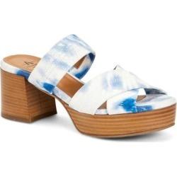 Summer Suede Tie Dye Strappy Platform Block Heel Sandal - Blue - Aquatalia Heels found on MODAPINS from lyst.com for USD $160.00