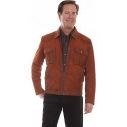 Scully Western Jacket Mens Rugged Suede Zip Front Copper found on Bargain Bro from Overstock for USD $296.36
