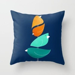 Couch Throw Pillow | Bird Stack Iii by Modern Tropical - Cover (16