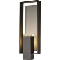 Hubbardton Forge Shadow Box 21 Inch Tall 2 Light Outdoor Wall Light - 302605-1028 found on Bargain Bro from Capitol Lighting for USD $861.08