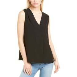 French Connection Crepe Light Crossover Top (XS), Women's, Black(polyester) found on MODAPINS from Overstock for USD $20.99