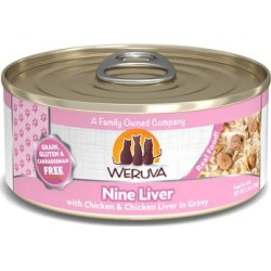 Weruva Classics Nine Liver with Chicken & Chicken Liver in Gravy Wet Cat Food, 5.5 oz.