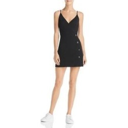Sage The Label Womens Mini Dress Ribbed Faux-Wrap - Black (M), Women's(knit) found on Bargain Bro from Overstock for USD $15.80