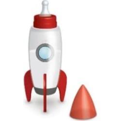 Bubblegum Stuff - Space Rocket Baby Bottle - Red/White