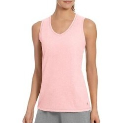 Champion Women's Double Dry Cotton Side Logo Tank Top Tee (Pink Bow Heather - S) found on Bargain Bro Philippines from Overstock for $19.49