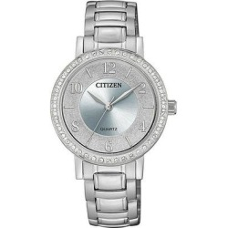 Quartz Crystal Silver Dial Ladies Watch -55l - Metallic - Citizen Watches found on Bargain Bro India from lyst.com for $92.00