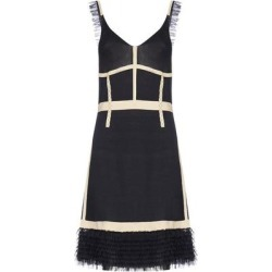Ruffle Detail Knitted Dress - Black - Moschino Dresses found on Bargain Bro Philippines from lyst.com for $630.00