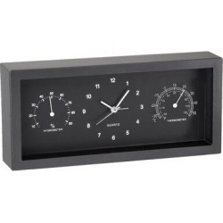 Artistic Products Dashboard Desktop Alarm Clock in Black, Size 4.75 H x 10.25 W x 4.75 D in   Wayfair 668040 found on Bargain Bro Philippines from Wayfair for $27.99