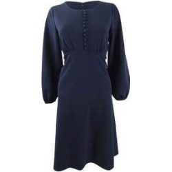 Calvin Klein Women's Button-Front A-Line Dress (14), Blue(polyester) found on Bargain Bro from Overstock for USD $49.39