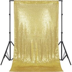 Photography Backdrop Studio Photo Prop 4' x 7' Glitter Champagne - 4' x 7' found on Bargain Bro Philippines from Overstock for $44.99