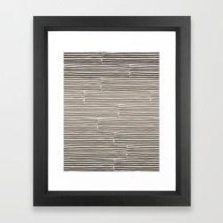 Framed Art Print | Hand Drawn Light Lines - Charcoal by Urban Wild Studio Supply - Vector Black - X-Small-10x12 - Society6 found on Bargain Bro from Society6 for USD $23.40