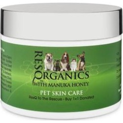 ResQ Organics Skin Treatment with Manuka Honey Dog & Cat Skin Care, 4-oz jar found on Bargain Bro Philippines from Chewy.com for $29.95