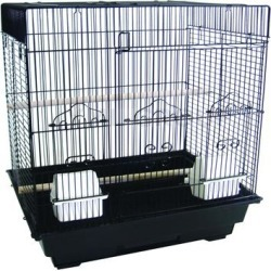 YML Square Top Black Bird Cage, 18