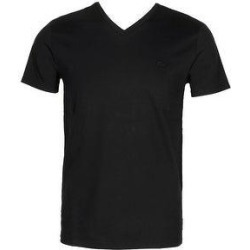 petite Lacoste Men's Cotton Monochromatic Logo V Neck Athletic T-Shirt (Black - XXL) found on Bargain Bro India from Overstock for $40.85