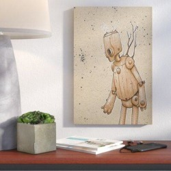 Wrought Studio™ 'Ink Bot Tree' Giclee Graphic Art Print on CanvasMetal in Brown, Size 40.0 H x 26.0 W x 0.75 D in | Wayfair VRKG6976 43164496 found on Bargain Bro Philippines from Wayfair for $129.99