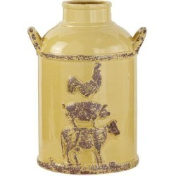 Stella & Eve Rustic Style Golden Yellow Ceramic Milk Jug found on Bargain Bro from Kohl's for USD $42.74