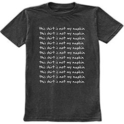 Urban Smalls Boys' Tee Shirts Heather - Heather Charcoal 'This Shirt Is Not My Napkin' Tee - Toddler & Boys found on Bargain Bro from zulily.com for USD $9.11