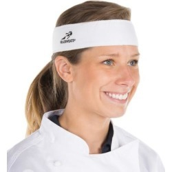 Headsweats 8801-801 White High-Performance Fabric Headband found on Bargain Bro India from webstaurantstore.com for $5.99