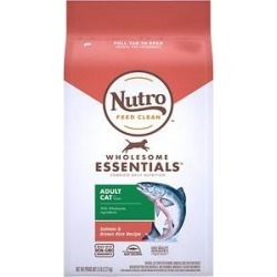 Nutro Wholesome Essentials Salmon & Brown Rice Recipe Adult Dry Cat Food, 5-lb bag found on Bargain Bro from Chewy.com for USD $11.76