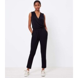 Lou & Grey Signature Softblend Crossover Jumpsuit - Black - LOFT Jumpsuits found on Bargain Bro India from lyst.com for $54.00