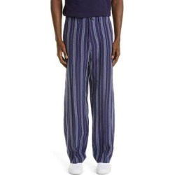 '70s Stripe Linen Trousers - Blue - Nicholas Daley Pants found on MODAPINS from lyst.com for USD $598.00
