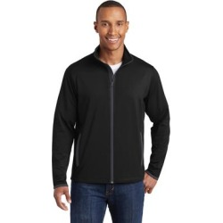 Sport-Tek ST853 Sport-Wick Stretch Contrast Full-Zip Jacket in Black/Charcoal Grey size 3XL | Polyester/Spandex Blend found on Bargain Bro Philippines from ShirtSpace for $39.64