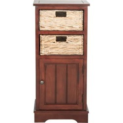 Safavieh Chests Cherry - Pine Cabinet With Wicker Baskets found on Bargain Bro India from zulily.com for $141.73