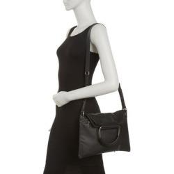 Soft Vintage Large Foldover Crossbody Bag - Black - Lancaster Shoulder Bags found on MODAPINS from lyst.com for USD $130.00