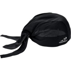 Headsweats Black Eventure Fabric Adjustable Chef Bandana / Do Rag found on Bargain Bro India from webstaurantstore.com for $9.99