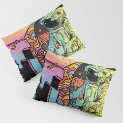 Pillow Sham | Space Arcade by Rj Artworks - STANDARD SET OF 2 - Cotton - Society6 found on Bargain Bro from Society6 for USD $30.39