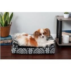 FurHaven Southwest Kilim Cat & Dog Bed, Black Medallion , Small found on Bargain Bro India from Chewy.com for $27.99