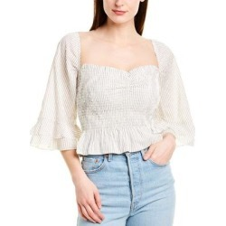 Blue Life Layla Crop Top (S), Women's, White(cotton, stripe) found on MODAPINS from Overstock for USD $32.99