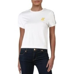 Puma Womens T-Shirt Cropped Fitness - Puma White (L), Women's(cotton) found on Bargain Bro India from Overstock for $14.19
