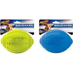 Nerf Dog Squeaker Ridged Football Dog Toy, 7-in, 2 count
