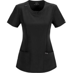 Cherokee Medical Uniforms Infinity-Round Neck Top (Size XL) Black, Polyester,Spandex found on Bargain Bro Philippines from ShoeMall.com for $28.99