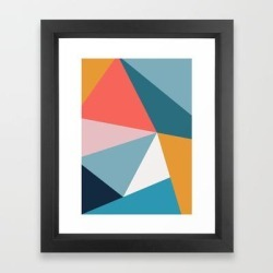 Framed Art Print | Modern Geometric 34 by The Old Art Studio - Vector Black - X-Small-10x12 - Society6 found on Bargain Bro India from Society6 for $37.59