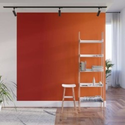 Wall Mural | Ombre In Red Orange by Seven Mustard Seeds - 8' X 8' - Society6