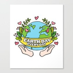 Canvas Print | Earth Day Every Day Save The Planet by Aombin - MEDIUM - Society6 found on Bargain Bro from Society6 for USD $66.87