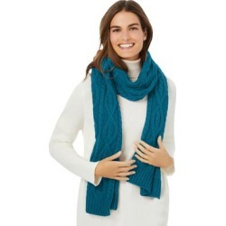 Plus Size Women's Cable Knit Scarf by Woman Within in Blue Teal found on Bargain Bro Philippines from fullbeauty for $39.99