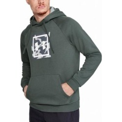 Under Armour Mens Sweater Gray Size Small S Camo Print Pocket Hooded (S), Men's(cotton) found on Bargain Bro Philippines from Overstock for $26.97