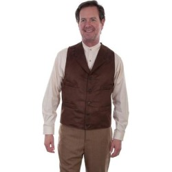 Scully Western Vest Mens Micro Fiber Notched Lapel Chocolate - L (Chocolate - L), Men's, Brown(microfiber, solid) found on Bargain Bro Philippines from Overstock for $47.50