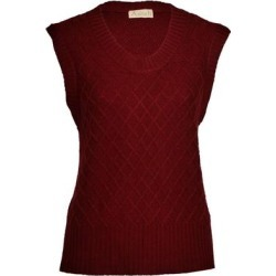 Diamond Pattern Silk Cashmere Sleeveless Sweater - Brown - Asneh Knitwear found on Bargain Bro from lyst.com for USD $203.68