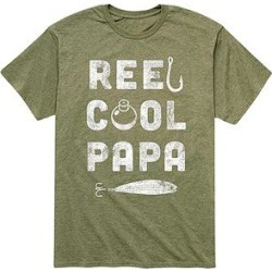Instant Message Mens Men's Tee Shirts HEATHER - Heather Military Green 'Reel Cool Papa' Tee - Men found on Bargain Bro India from zulily.com for $16.99