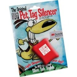 Quiet Spot Pet Tag Silencer, Red found on Bargain Bro India from Chewy.com for $12.99